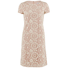 Buy Gina Bacconi Embroidered Daisy Chain Cap Sleeve Dress, Pearl Online at johnlewis.com