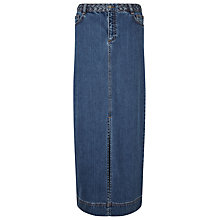 Buy East Indigo Denim Maxi Skirt, Indigo Online at johnlewis.com