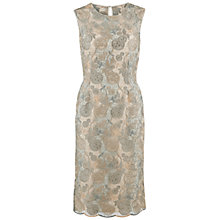 Buy Gina Bacconi Guipure Lace Dress With Scalloped Hem, Grey Online at johnlewis.com