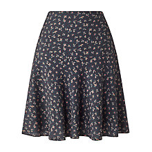 Buy Jigsaw Primrose Ditsy Flippy Skirt, Navy Online at johnlewis.com