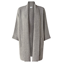 Buy Jigsaw Ottoman Cardigan, Grey Online at johnlewis.com