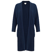 Buy East Patchwork Edge To Edge Cardigan, Navy Online at johnlewis.com