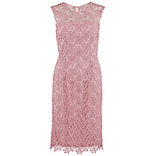 Buy Gina Bacconi Metallic Guipure Dress, Pink Online at johnlewis.com