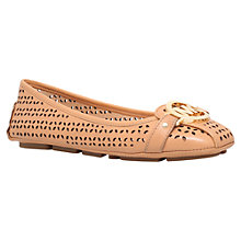 Buy MICHAEL Michael Kors Fulton Perforated Moc Flat Pumps Online at johnlewis.com