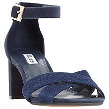 Buy Dune Imelda Block Heeled Cross Strap Sandals Online at johnlewis.com