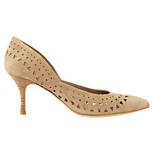 Buy Jigsaw Amber Perforated Court Shoes Online at johnlewis.com