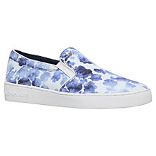 Buy MICHAEL Michael Kors Keaton Slip On Trainers, Blue/Other Online at johnlewis.com