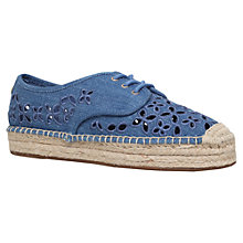 Buy MICHAEL Michael Kors Darci Lace Up Espadrilles, Denim Online at johnlewis.com