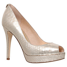 Buy MICHAEL Michael Kors York Stiletto Heel Court Shoes, Gold Snake Online at johnlewis.com