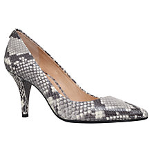 Buy MICHAEL Michael Kors Flex High Stiletto Heel Court Shoes, Beige Comb/Snake Print Online at johnlewis.com