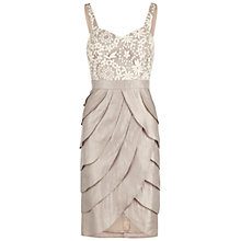 Buy Gina Bacconi Daisy Chain Embroidered Mesh Dress, Pearl Online at johnlewis.com