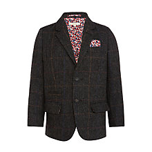 Buy John Lewis Heirloom Collection Boys' Herringbone Check Jacket, Grey Online at johnlewis.com