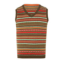 Buy John Lewis Heirloom Collection Boys' Fair Isle Tank Online at johnlewis.com