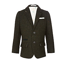 Buy John Lewis Heirloom Collection Tweed Slub Jacket, Green Online at johnlewis.com