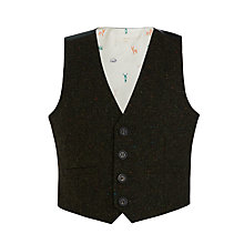 Buy John Lewis Heirloom Collection Tweed Slub Waistcoat, Green Online at johnlewis.com