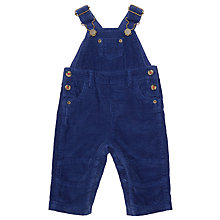 Buy John Lewis Baby Cord Dungarees, Blue Online at johnlewis.com