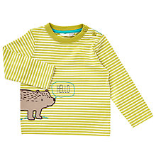 Buy John Lewis Baby Hello Bear T-Shirt, Green Online at johnlewis.com