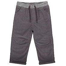 Buy John Lewis Baby Ribbed Waist Corduroy Trousers, Grey Online at johnlewis.com