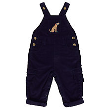 Buy John Lewis Baby Dog Corduroy Dungarees, Navy Online at johnlewis.com