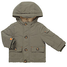 Buy John Lewis Baby Hooded Jacket, Khaki Online at johnlewis.com