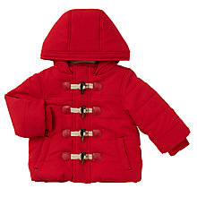 Buy John Lewis Baby Padded Duffle Coat, Red Online at johnlewis.com