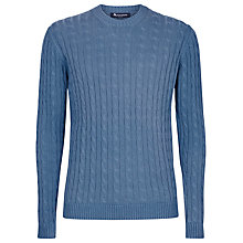 Buy Aquascutum Eton Cable Knit Cotton Jumper Online at johnlewis.com