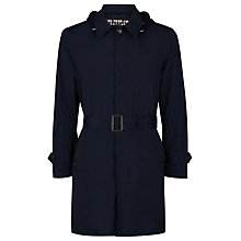 Buy Aquascutum Ossett Lightweight Raincoat, Navy Online at johnlewis.com