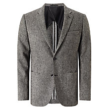Buy John Lewis Donegal Wool Tailored Blazer, Light Grey Online at johnlewis.com