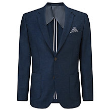 Buy John Lewis Textured Wool Tailored Blazer, Indigo Online at johnlewis.com