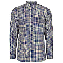 Buy Aquascutum Padstow Check Linen Cotton Shirt, Navy Online at johnlewis.com