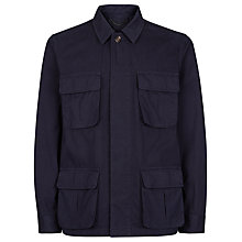 Buy Aquascutum Wyke Cotton Field Jacket, Navy Online at johnlewis.com
