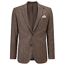 Buy John Lewis Donegal Wool Tailored Blazer, Sepia Online at johnlewis.com