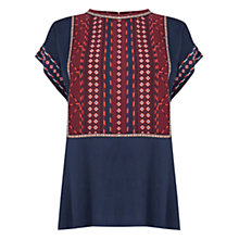 Buy Oasis Dakota Placement Top, Multi Online at johnlewis.com