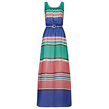 Buy Phase Eight Elsa Stripe Silk Maxi Dress, Multi Online at johnlewis.com
