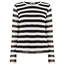 Buy Oasis Metallic Fibre Knit, Mid Grey Online at johnlewis.com