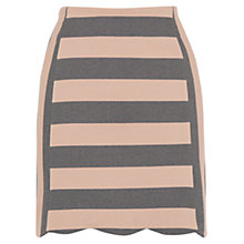 Buy Oasis Scallop Stripe Skirt, Multi Online at johnlewis.com