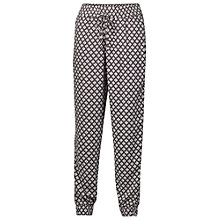 Buy Fat Face Printed Diamond Hatch Trousers, Phantom Online at johnlewis.com
