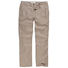 Buy Fat Face Linen Trousers, Rock Online at johnlewis.com