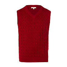 Buy John Lewis Heirloom Collection Boys' Cable Knit Tank, Red Online at johnlewis.com