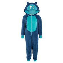 Buy John Lewis Boys' Alien Fleece Onesie, Blue Online at johnlewis.com
