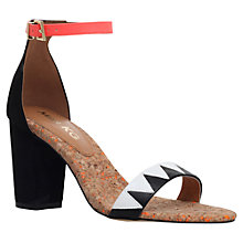 Buy Miss KG Faye Block Heeled Sandals, Black/Red Online at johnlewis.com