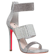 Buy Carvela Globe Multi Strap Stiletto Sandals, Silver Online at johnlewis.com