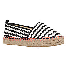 Buy Miss KG Dottie Espadrilles, Black/White Online at johnlewis.com