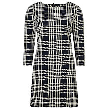 Buy Phase Eight Claudia Check Tunic Dress, Black/Ivory Online at johnlewis.com