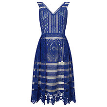 Buy Phase Eight Camille Lace Dress, Bondi Blue Online at johnlewis.com