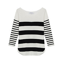 Buy Gerard Darel Capri Stripe Jumper, Ecru/Black Online at johnlewis.com
