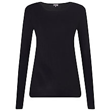 Buy Phase Eight Dotty Jersey Top, Black Online at johnlewis.com