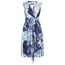 Buy Phase Eight Isabella Dress, Ivory/Blue Online at johnlewis.com
