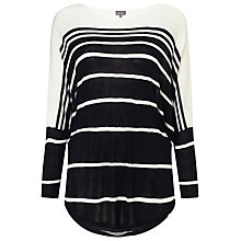 Buy Phase Eight Catrina Stripe Top, Black/White Online at johnlewis.com
