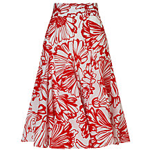 Buy Phase Eight Penelope Floral Skirt, White/Red Online at johnlewis.com